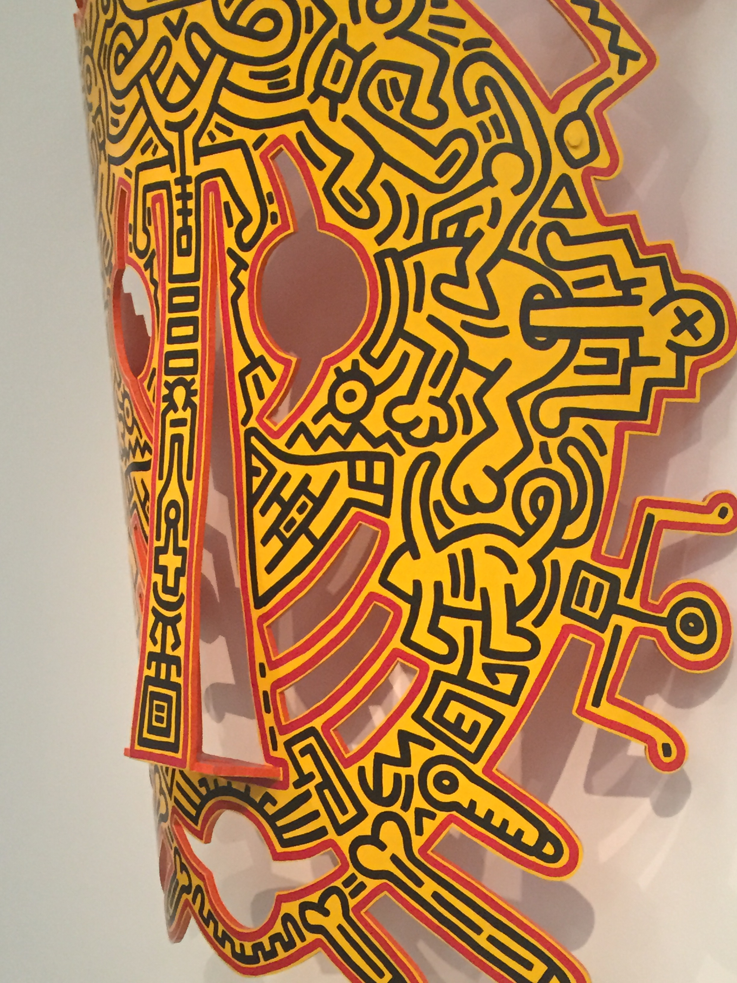 """Munich; KEITH HARING """"The political line"""" at KUNSTHALLE MUNCHEN 