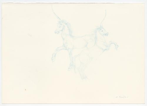 HQ18-CS11439D Sky Blue Licorne Horses